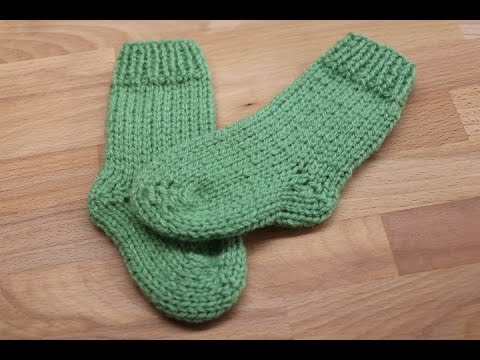 Calcetines o medias para bebe dos agujas youtube - Como hacer talon de calcetines de lana ...
