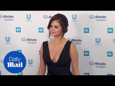 Selena Gomez takes the plunge in black at WE day in California