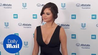 Selena Gomez takes the plunge in black at WE day in California Video
