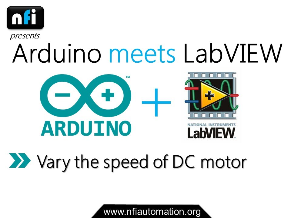 Arduino meets labview varying the speed of dc motor using for How to vary the speed of a dc motor