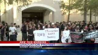 Xavier University students protest location of graduation