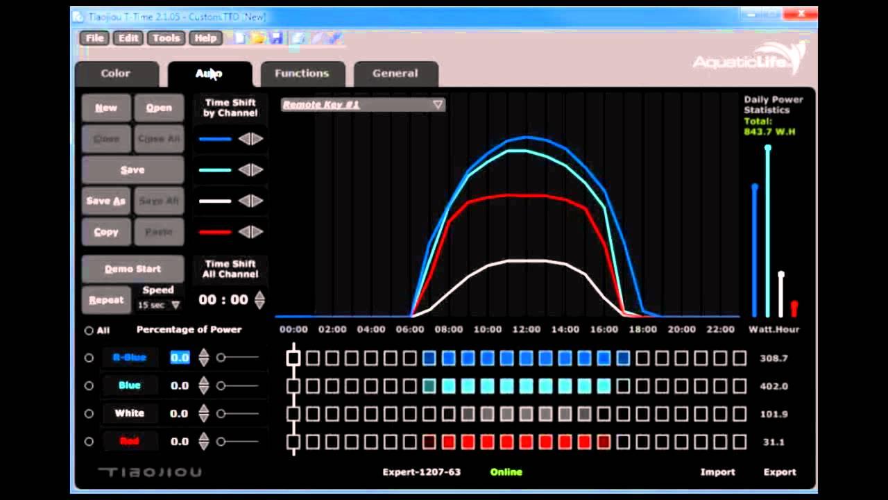 aquatic life xs led light fixture t time software overview