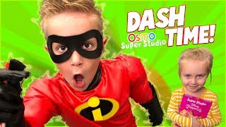 Dash Time! Playing The Incredibles 2 OSMO Super Studio | KIDCITY
