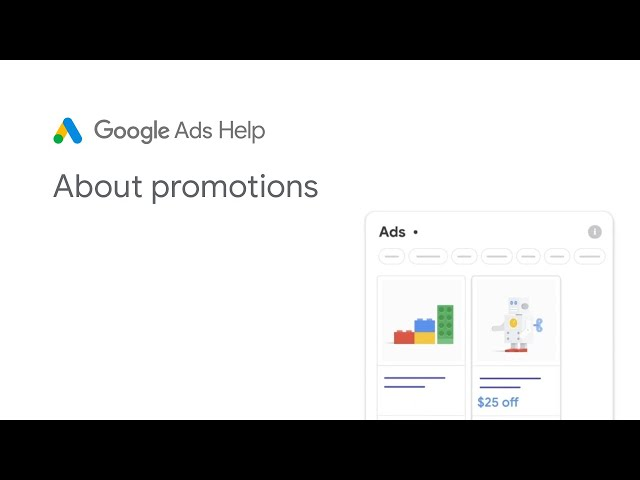 [Google Ads] Google Ads Help: About promotions