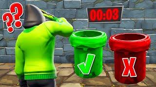 CHOOSE The RIGHT TUBE To ESCAPE! (Fortnite Escape Room)