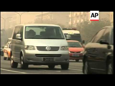 Smog hits the Chinese capital Beijing