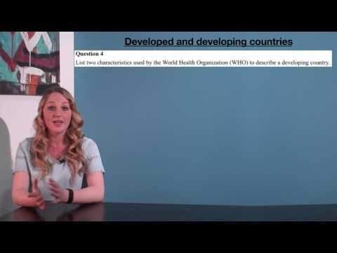 VCE HHD - Developed and developing countries