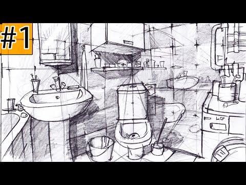 Как нарисовать ИНТЕРЬЕР? #1 Дизайн интерьера