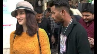 Elli Avram With Boyfriend Cricketer Hardik Pandya At Ad Shoot