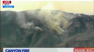 Corona fire - Latest video updated 09272017
