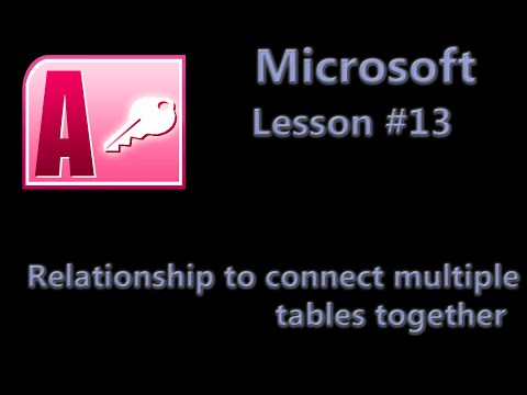 microsoft access many to relationship multiple keys