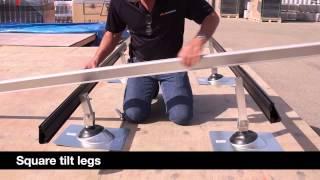 Installing an IronRidge Roof Mount System on Tilt Legs