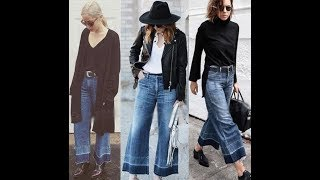 Stylish wide leg jeans 2018