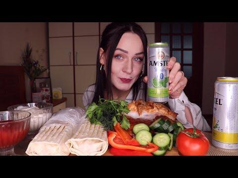 MUKBANG | шаурма, курица гриль ( + видео с дня рождения ) | Shawarma, Grilled Chicken не ASMR