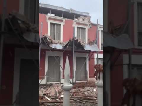 Vídeo muestra los daños ocasionados por  terremoto en Puerto Rico.