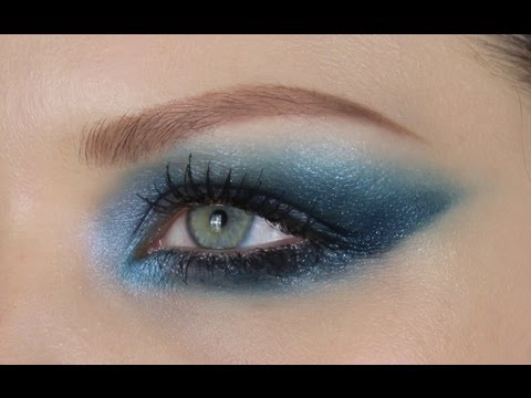 BLUE EYESHADOW FOR BROWN EYES - YouTube