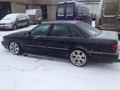 AUDI V8 зимний Burnout.