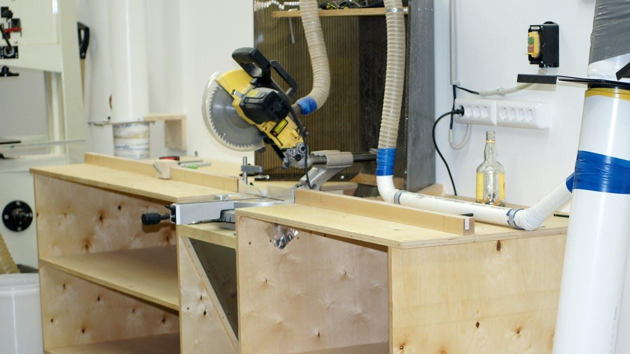 Building a miter saw workbench / Изготовление стола для ...
