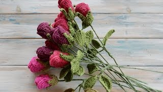 How To Crochet a Rose - Yarn Scrap Friday