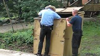 bear cubs rescued from dumpster by ranger in ruidoso, nm  july 2010