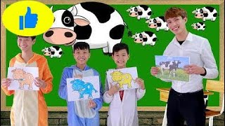 Kids Learn color with Pig Animals Children learn how to Cook  Hot Pot Nursery Rhymes Song 20  # 493