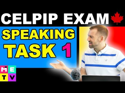 CELPIP Speaking Task 1 - TIPS!