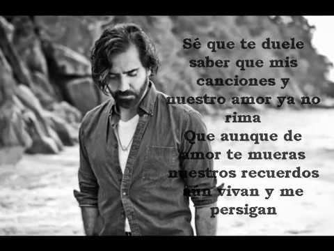 SÉ QUE TE DUELE Alejandro Fernandez ft. Morat LETRA