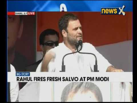 Rahul Gandhi addresses poll rally in Shamli, Uttar Pradesh