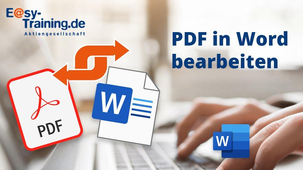 Word 20 PDF in Word bearbeiten