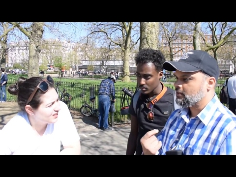 P1 - Faith Calling! Hashim & Agnostic Lady | Speakers Corner | Hyde Park