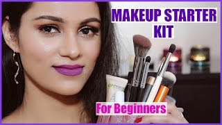Makeup Kit For BEGINNERS In HINDI | Makeup + Brushes