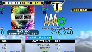 [DDR A]MAX 360[Single-EXPERT]998,240 FC by DDR-KOJI