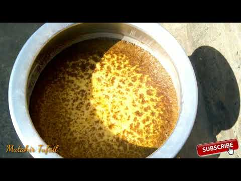 How to purify mustard oil || Sarso ka oil saif karny ka dasi tareka|| village vloge