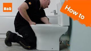 How to install a close-coupled toilet
