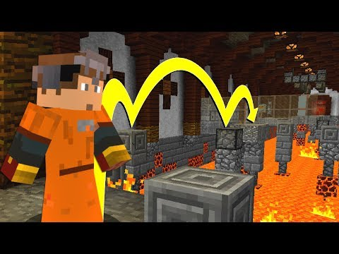 The Minecraft HALLWAY of LAVA Challenge!