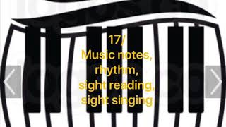 17/ Music notes, Rhythm, Sight reading,