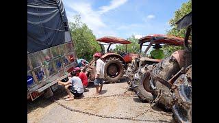 Xe tải lọt lề,3 chiếc máy cày,5018.6040,7000, Kubota, kéo bốc lửa,Tractor tractor truck