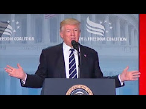 President Trump ATTACKS Democrats At Faith and Freedom Coalition's Road to Majority Conference