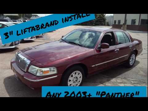 """How to install a 3"""" lift on a 2003+ Crown Vic/ Mercury Grand Marquis/ Panther"""