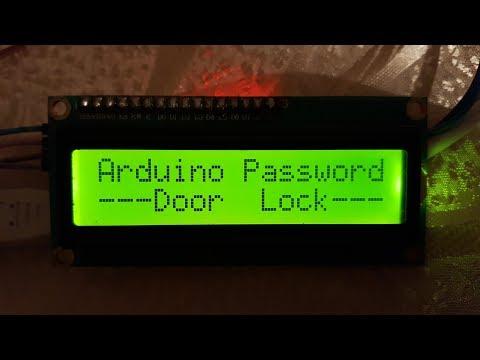 How to make arduino door lock with password