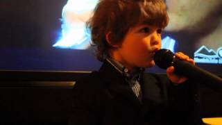 "Little Boy Singing ""Hallelujah"" Il Divo toddler Oliver 34 months"