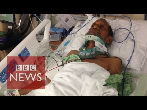 Indian injured by US police speaks out - BBC News