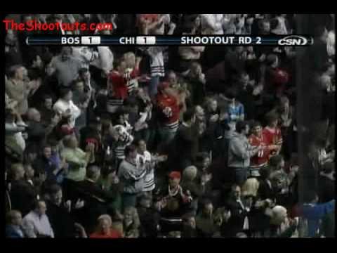 Patrick Kane (CHI) vs. Tim Thomas (BOS) Shootout N...