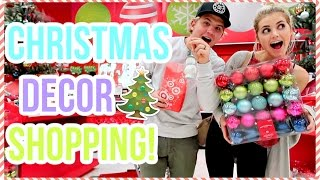 shopping for christmas decor vlogmas day 1
