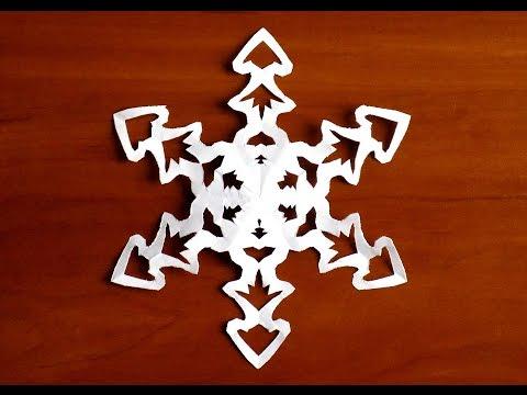 как сделать простую снежинку из бумаги поэтапно снежинка елочка