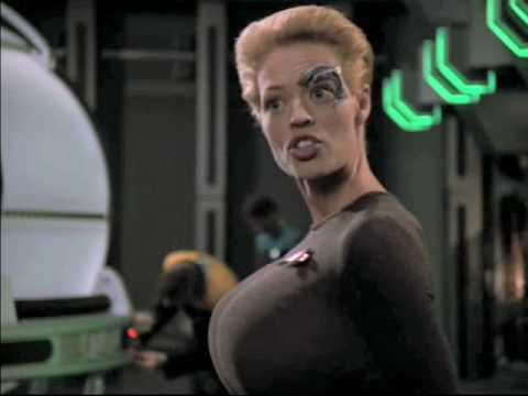 Jeri Ryan (Seven of Nine) Breast Expansion Morph in Star Trek video 2
