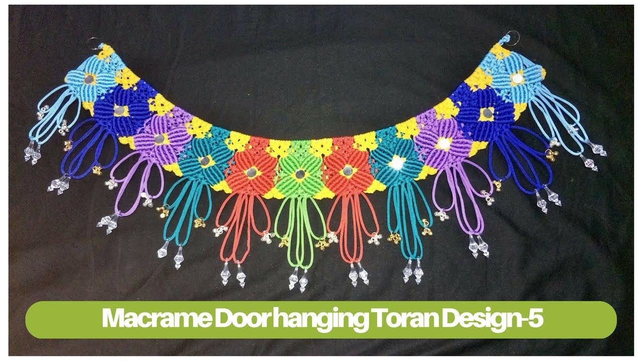 Door Hanging Designs door hanging decorations marigold flower arrangements door decorations halloween indian house entrance design ideas How To Make Macrame Toran Design 5 Macrame Door Hanging Macrame Art