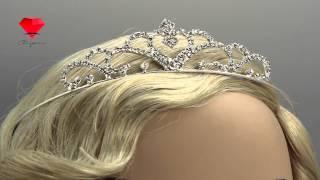 Bije.ru: Свадебная диадема с родиевым покрытием и стразами Elania (Эльания)