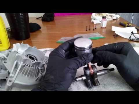 49cc cylinder install and partial engine assembly