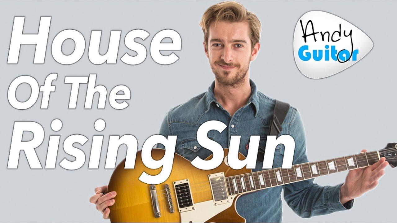 House Of The Rising Sun Guitar Lesson Easy Beginner Version The